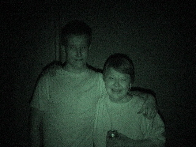 Bryan & Mom (shot with Nightvision)