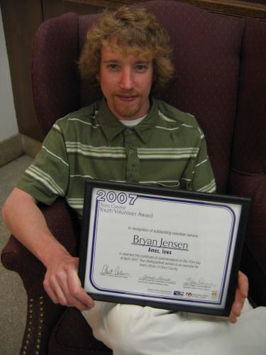 Bryan's Youth Volunteer Award